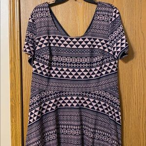 City Triangles Purple & Navy Skater Dress, 16